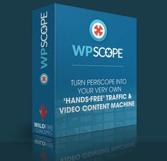 WP Scope is AMAZING Product created by Cindy Battye. WP Scope is a WordPress plugin that turns Periscope's traffic, content, and fan power into your personal traffic factory…Instead of videos getting deleted after 24 hours… WP Scope curates an autopilot blog made up of high-quality permanent Scopes that drive red-hot traffic back to your blog… Where you can capture opt in details, sell affiliate offers, retarget them and more… in short, turning your free Periscope traffic into an audience…
