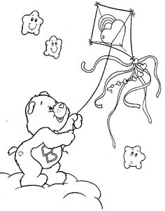Care Bears coloring pages, colouring The Care Bears Coloring Pages For Boys, Disney Coloring Pages, Coloring Book Pages, Printable Coloring Pages, Care Bears, Care Bear Tattoos, Character Template, Color Me Beautiful, Cartoon Pics