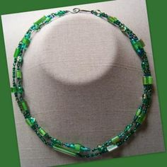 Emerald Cane Double Necklace by AthomicArtandDesign for $12.00