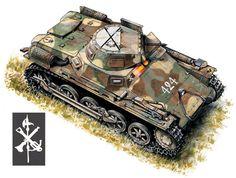 Panzer I Ausf. A de la 2ª Seccion, 1ª Compañia, 2ª Batallon, Bandera de Carros de Combate de la Legion, Cubas de la Sagra, 1938