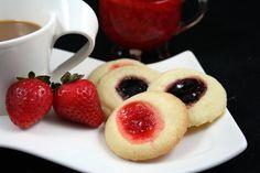 Make and share this Rosenmunnar (Swedish Thumbprint Cookies) recipe from Genius Kitchen. Baking Recipes, Cookie Recipes, Dessert Recipes, Bar Recipes, Cookie Ideas, Copycat Recipes, Dessert Ideas, Swedish Cookies, Thumbprint Cookies Recipe