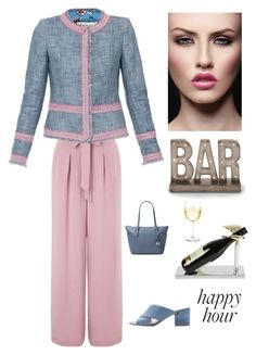 """""""Happy Hour After Work"""" by kotnourka ❤ liked on Polyvore featuring Miss Selfridge, MICHAEL Michael Kors, Sigerson Morrison, Uma and Lunares"""