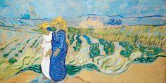 AVincent Van Gogh - Post Impressionism - Auvers - Femmes à travers champs - 1890 Post Impressionism Art, Vincent Willem Van Gogh, Monet, Champs, Les Oeuvres, Comme, Canvas, Creative, Nature