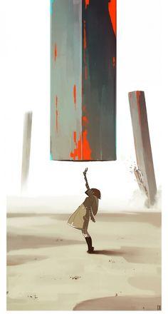 Loud Sunshine by crowley Guillaume Ospital Illustration Art Inspo, Kunst Inspo, Anime Kunst, Art Anime, Art And Illustration, Fantasy Kunst, Fantasy Art, Poses References, Art Design