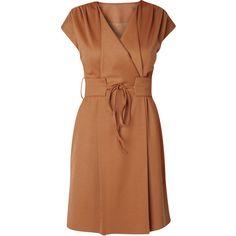 RAXEVSKY Raquel Hazelnut Dress ($100) ❤ liked on Polyvore