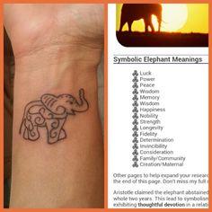elephant wrist tattoo