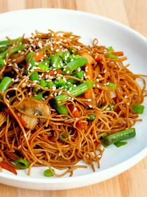 Vegetable Sesame Noodle Stir Fry (note to self, can add baby spinach, zucchini, broccolli, onions, carrots and cabbage)