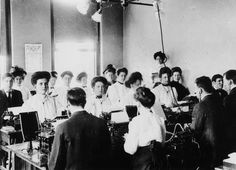 Typing class, ca. 1899 :: Ohio University Archives. Classes in stenography, bookkeeping, and typing were offered as adjunct courses to the regular curriculum, particularly in summer school.