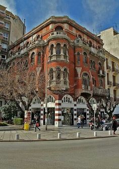 """Τhe """"Red House"""" in Thessaloniki, Macedonia, Greece Albania, Myconos, Macedonia Greece, Places In Greece, Greece Travel, Greek Islands, Bulgaria, Beautiful Places, Places To Visit"""