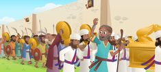 """The newest story in the Bible App for Kids shows God's people entering the promised land. It's based on Numbers 13-14, Joshua 2-3, and Joshua 5-6 in the Old Testament. Moses sends 12 spies to explore the land flowing with milk and honey. Two return ready to trust God's promise, but the other ten convince … Continue reading """"""""Waters Part and Walls Fall"""": The Newest Story in the Bible App for Kids"""""""