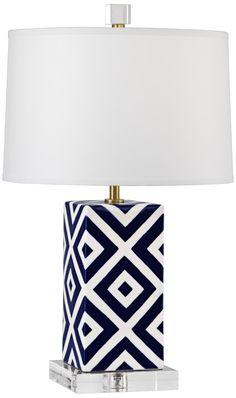 Robert Abbey Mary McDonald Santorini Squares Accent Lamp | LampsPlus.com