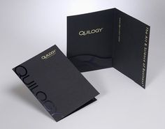 Another custom shaped inside pocket.  20 gorgeous presentation folder designs | Graphic design | Creative Bloq