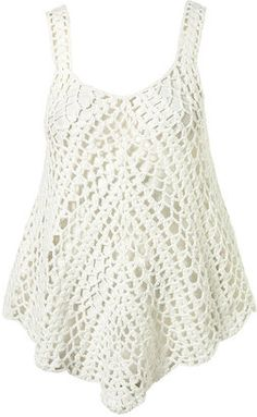 Crochet Vest - Topshop Pretty Chevron tank top