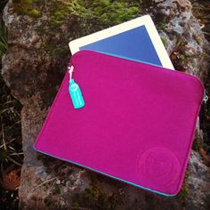 iPad case in berry, from our OWL recycled felt line!