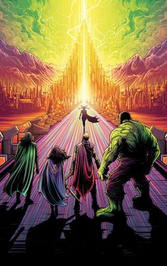 Dan Mumford, Poster illustration of Marvel film thor Marvel Universe, Movie Posters, Marvel Dc Comics, Thor Wallpaper, Marvel Cinematic, Comics