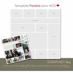 Free template from ScrapLady-gaga - this would be great for a Weekly layout / Project Life type layout
