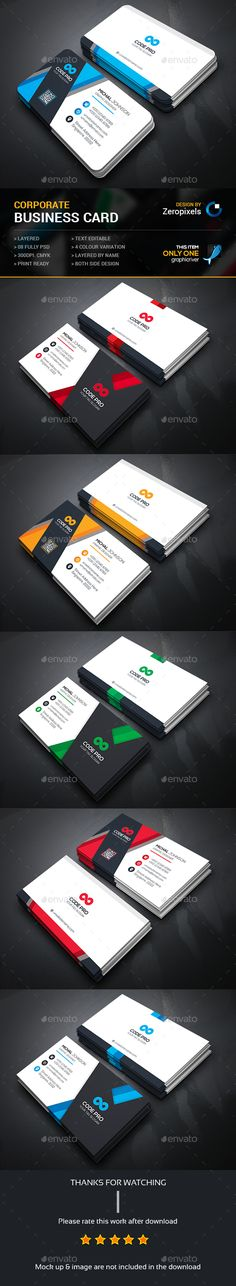 Corporate Business Card Bundle Templates PSD. Download here: http://graphicriver.net/item/corporate-business-card-bundle/16062008?ref=ksioks