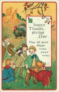 "V""ntage Thanksgiving Postcard Thanksgiving Blessings, Thanksgiving Greetings, Vintage Thanksgiving, Happy Thanksgiving Day, Thanksgiving Crafts, Vintage Holiday, Thanksgiving Decorations, Vintage Fall, Thanksgiving Sayings"