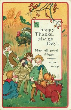 1920s Thanksgiving Postcard