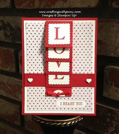 Welcome to Day 3 of my mini series for Valentine's Day!  For today's card, I'm featuring Stampin' Up!'s Sophisticated Serifs Photopolymer Stamp Set.  More details about this card can be found on my blog: http://www.craftingwithjenny.com/love-waterfall-card-day-3/  Thanks for taking a closer look! Jenny