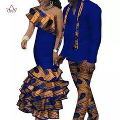 African Top and Pants Sets for Women Bazin Riche African Clothing Men Top and Pants Sets Dashiki African Couples Clothes African Tops For Women, African Dresses For Women, African Wear, African Fashion Dresses, African Outfits, Traditional African Clothing, Traditional Outfits, Traditional Wedding, African Dashiki