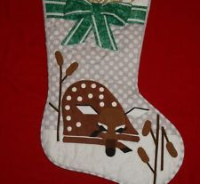 Charley Harper Deer Fawn Cute Christmas Stocking Fabric Quilt Pattern DIY Modern