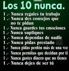 Los 10 nunca .......................................