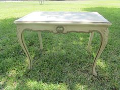 Vintage Marble Top Table, Side Table, mid century table, small table,French table,Italian,end table,accent table, vintage furniture, ornate, by KarensChicNShabby on Etsy