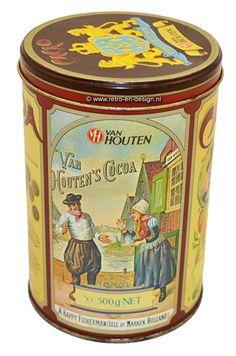 Blechdose für Kakao von Van Houten seit 1828