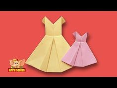 Origami - How to make a Pretty Dress - YouTube