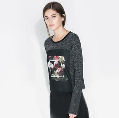 Casual Style Scoop Neck Knitted Long Sleeve Tees