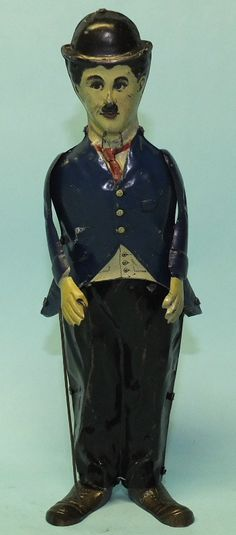 ANTIQUE 1915 B&R CHARLIE CHAPLIN MECHANICAL TIN WIND UP TOY | Toys of Times Past