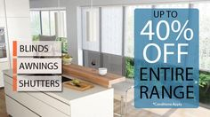 Book your FREE measure & quote ONLINE TODAY to ensure you don't miss out our current special Up to 40% OFF sale on Blinds, Shutters and Awnings! Offer ends June 30. To See the range of colours on offer or to book a FREE measure & quote: Visit http://apolloblinds.com.au/specials/ or Email us sales@apolloblinds.com.au - Call us 132 899