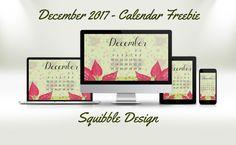 Squibble Design Blog | December Wallpaper Freebie, Patterns, and the November Vlog!