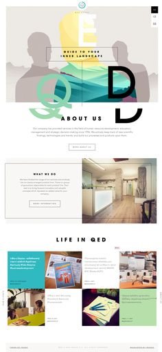 QED Group. Guide to your inner landscape. (More design inspiration at www.aldenchong.com)
