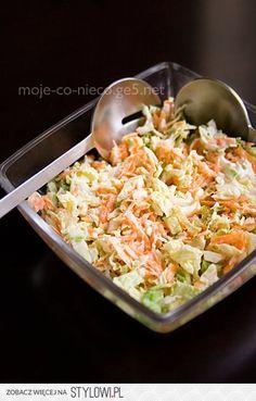 SURÓWKA COLESLAW SKŁADNIKI 1/2 kapusty włoskiej 2 marc… na Stylowi.pl Big Mac, Calzone, Key Lime, Coleslaw, Cabbage, Grains, Rice, Chicken, Meat