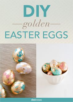 Take your Easter egg game to a whole new level with this gold marbled DIY