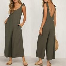 Fashion Halter Sleeveless Wide Leg Jumpsuit – yoyolike SPECIFICATIONS: Product Name Fashion Halter Sleeveless Wide Leg Jumpsuit Brand yoyolike SKU Gender Women Style Casual/Fashion Occasion Date Material Cotton Sleeve Sleeveless Decoration Plain Long Jumpsuits, Jumpsuits For Women, Urban Fashion, Fashion Looks, Womens Fashion, Cheap Fashion, Ladies Fashion, High Fashion, Casual Dresses