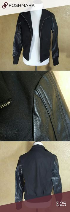 Sound Matter Jacket I believe this is faux leather and felt.  Great condition. Sound & Matter Jackets & Coats