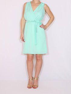 Bridesmaid dress Mint green Chiffon dress Short dress Prom