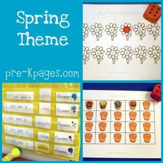 Preschool Spring Art | ... for teaching and learning about the spring season, plants, and seeds