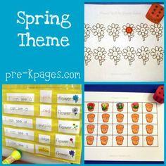 spring theme in preschool