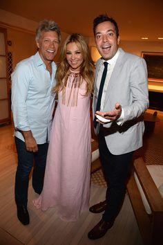 Thalía, de fiesta con Jimmy Fallon y Jon Bon Jovi en la gala 'Apollo in the Hamptoms'
