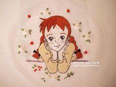[프랑스자수]사랑스러운 빨간머리앤 자수 /레이나 자수