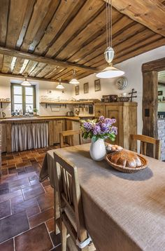 Imagine the kitchen of your dreams. Is it relaxed and comfortable like in a country kitchen, or sleek and streamlined … Cozy Kitchen, Wooden Kitchen, Rustic Kitchen, Kitchen Decor, English Country Kitchens, English Country Decor, French Kitchens, Country Style, French Country