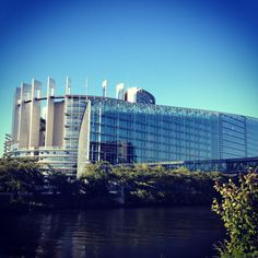 The European Parliament in Strasbourg. Decisions made here affect the whole of Europe and the world. Photo by SU Strasbourg student Tina Kassangana. France 14, France Europe, Europe Eu, European Parliament, Strasbourg, Alsace, Study Abroad, Marina Bay Sands, Germany