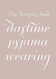pyjama wearing | I'm having a duvet day! | Pinterest