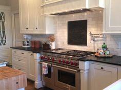 10 Firebacks for Kitchen Backsplash Pictures Cheap Kitchen Backsplash, Kitchen Tiles, Backsplash Ideas, Kitchen Design, Kitchen Decor, Updated Kitchen, New Kitchen, Nantucket Home, Travertine Backsplash