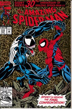 Amazing SpiderMan 1963 1st Series 375 March 1993 ~ That is how Venom looks best!