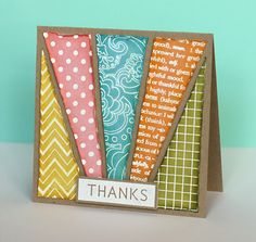 Stamped Background Pieced - I feel like this could be used for so many different things.